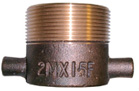 Gunmetal/Brass Male BSPP x Female BSPP Fixed Adaptor